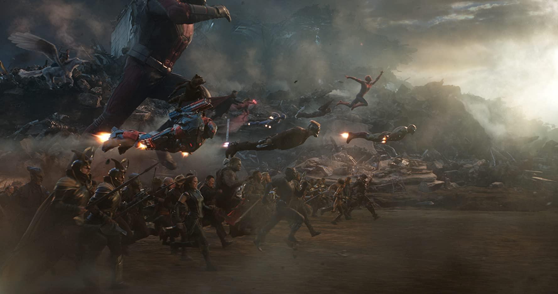 Final battle scene from Marvel Studios' Avengers: Endgame